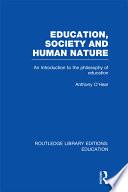 Education  Society and Human Nature