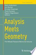 Analysis Meets Geometry