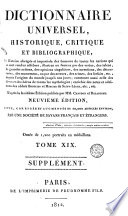 Dictionnaire universel, historique, critique et bibliographique