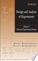 Design and Analysis of Experiments  Advanced Experimental Design