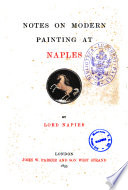 Notes on Modern Painting at Naples by Lord Napier