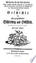 Geschichte der herzogthümer Schleswig und Hollstein