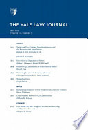 Yale Law Journal  Volume 121  Number 7   May 2012