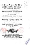 Relazione della nuova libreria del gregoriano monastero di S  Martino delle Scale  e dell Accademia fatta per l apertura di essa data in una lettera del bibliotecario P  D  Salvadore Maria di Blasi a monsign  Gianagostino Gradenigo     con un catalogo ragionato di 400  e piu codici  ch erano in esso monastero nel 1384
