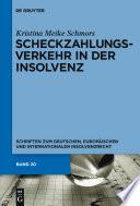 Scheckzahlungsverkehr in der Insolvenz