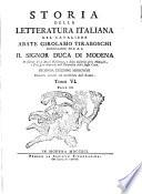 Storia della letteratura italiana  Dall  anno MCCCC fino all  anno MD  3 pts