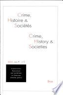 Crime, histoire et sociétés