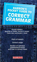 Barron's Pocket Guide to Correct Grammar