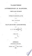 Bataksch leesboek, bevattende stukken in het Tobasch, Mandailingsch en Dairisch