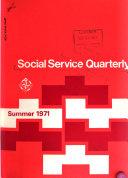 Social Service Quarterly