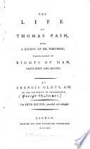 The life of Thomas Pain