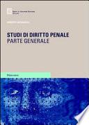 Studi di diritto penale  Parte generale