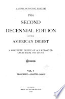 Second Decennial Edition of the American Digest