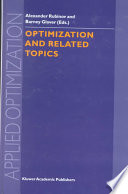 Optimization And Related Topics book