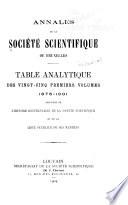 Annales de la Soci  t   scientifique de Bruxelles