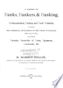 A History of Banks, Bankers, & Banking in Northumberland, Durham, and North Yorkshire