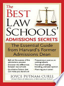 The Best Law Schools  Admissions Secrets