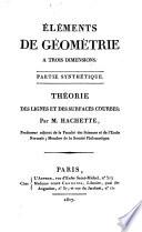 Éléments de géométrie à trois dimensions
