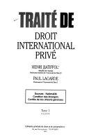 Traité de droit international privé