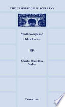 Marlborough and Other Poems Hamilton Sorley 1895 1915 Offered The Definitive Version