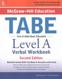 McGraw Hill Education TABE Level A Verbal Workbook