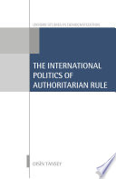 International Dimensions of Authoritarian Rule