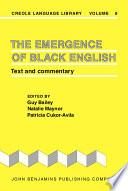 The Emergence of Black English