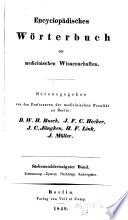 Encyclopaedisches W  rterbuch der medizinischen Wissenschaften  hrsg  von D  W  H  Busch  C  F  von Graefe  etc