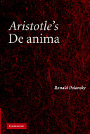 Aristotle's De Anima: A Critical Commentary