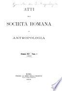 Atti della Societ   romana di antropologia