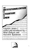 The Institutionalization of Literature in Spain
