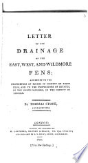 A letter on the drainage of the East  West  and Wildmore fens