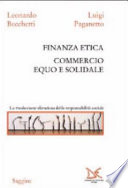 Finanza etica  Commercio equo e solidale