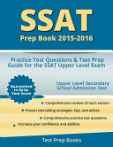 SSAT Prep Book 2015 2016  Practice Test Questions and Test Prep Guide for the SSAT Upper Level Exam