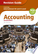 Cambridge International As A Level Accounting Revision Guide 2nd Edition book
