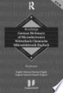 German Dictionary Of Microelectronics