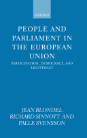 People and Parliament in the European Union