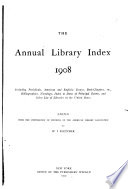 The Annual Library Index