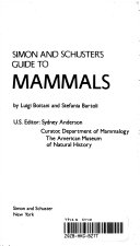 Simon and Schuster s Guide to Mammals