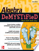 Algebra DeMYSTiFieD  Second Edition