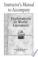 Explorations in World Literature Instructor s Manual