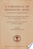 A Chronicle of Damascus 1389-1397