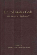 United States Code 2000  Supplement 5