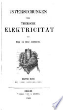 Untersuchungen   ber thierische elektricit  t
