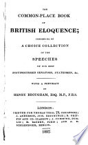 The Common place Book of British Eloquence