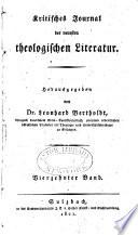 Kritisches Journal der neuesten theologischen Literatur