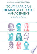 South African Human Resource Management For The Public Sector