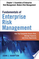 Fundamentals of Enterprise Risk Management Chapter 1  Essentials of Enterprise Risk Management   Modern Risk Management