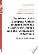 Priorities of the European Union