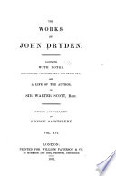 The Works of John Dryden  Prose works